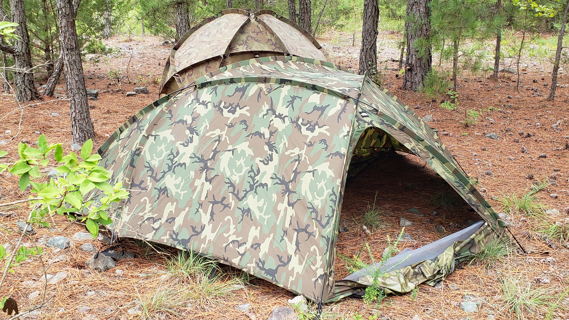 Extreme Cold Weather Tent ECWT ECWS North Face Tent woodland camouflage rainfly
